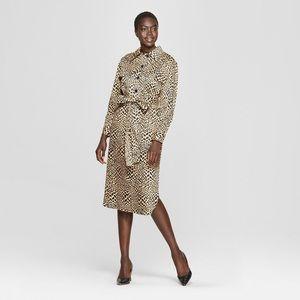 Who What Wear Leopard Midi Dress